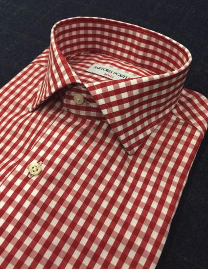 Camicia sartoriale quadri rosso