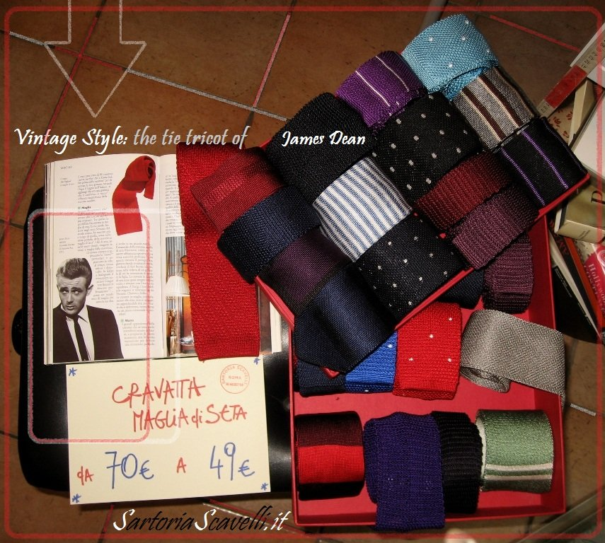 Cravatta in maglia di seta