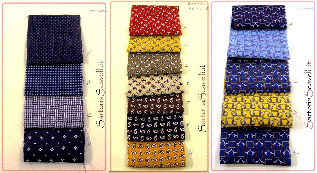 Cravatta sartoriale su misura.