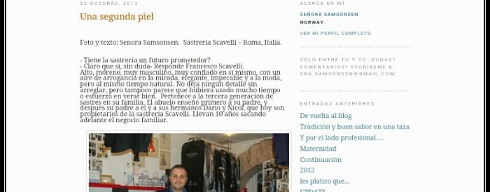 Rassegna Stampa - Sartoria Scavelli