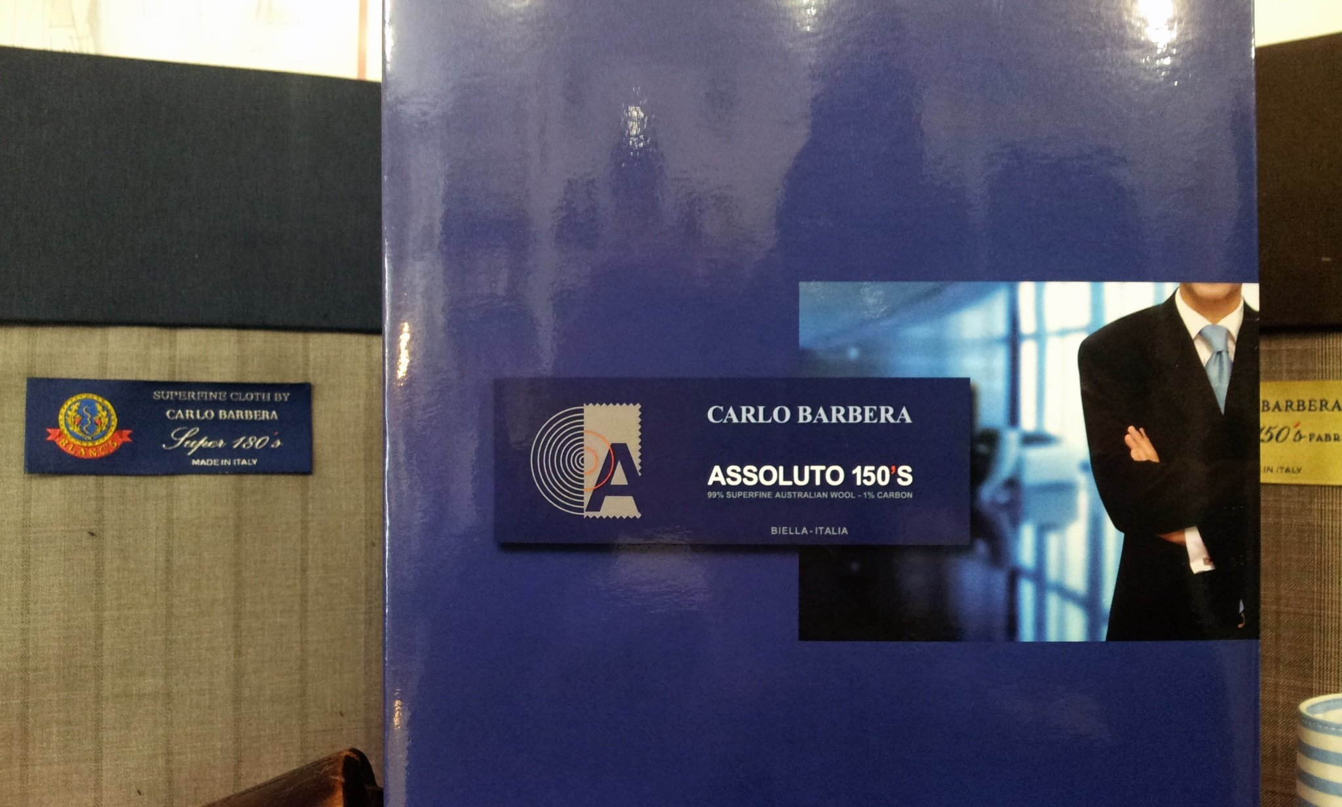 Assoluto 150'S di Carlo Barbera ~ il tessuto intelligente che protegge dai campi elettromagnetici.