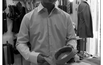 A japanese customer in Sartoria Scavelli ~ Rome