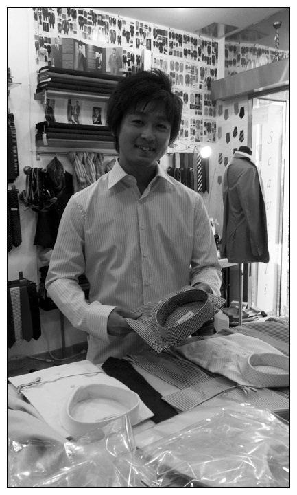 A japanese customer in Sartoria Scavelli ~ Rome