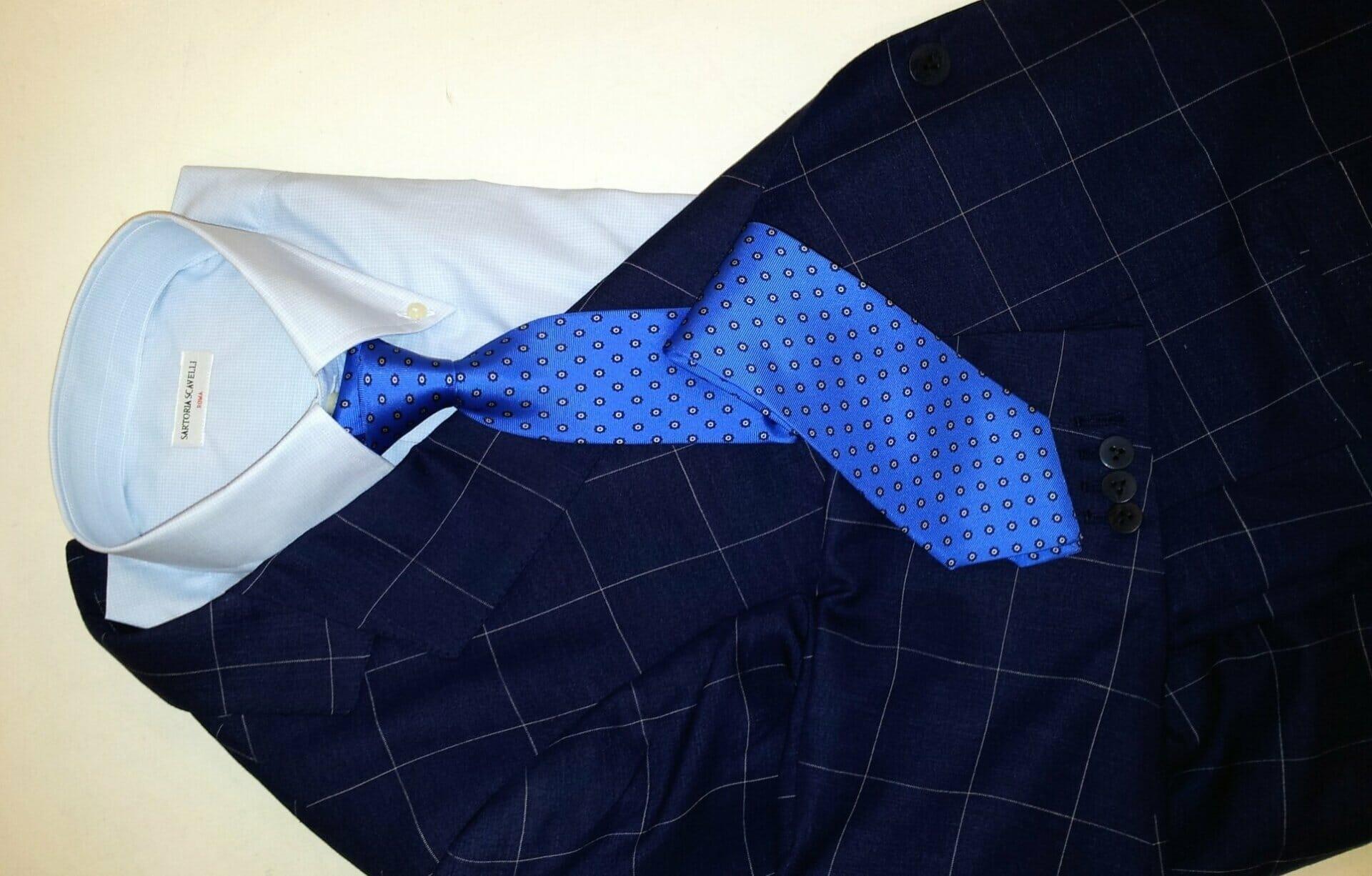 Blazer + camicia bottondown + cravatta ~ Sartoria Scavelli Roma