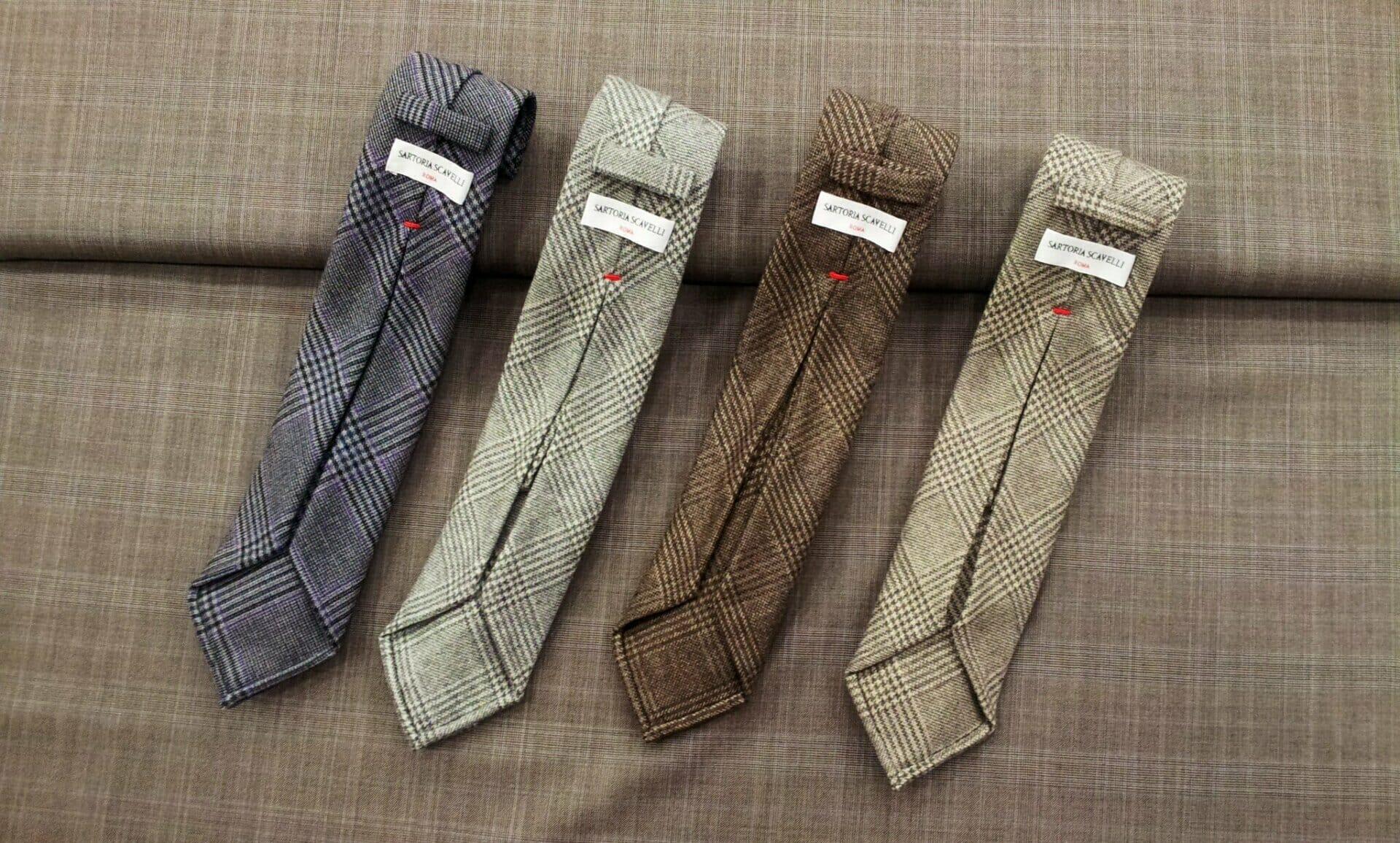 comprare a buon mercato grande sconto rivenditore all'ingrosso Cravatte in cashmere sette pieghe sfoderate ~ Sartoria ...