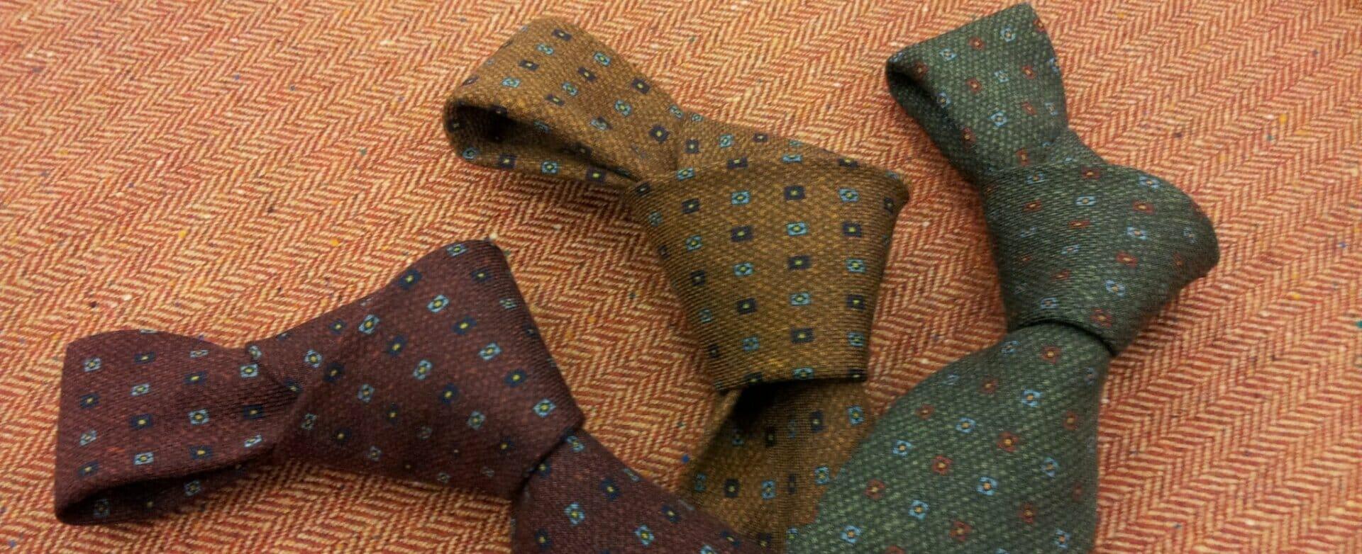 Cravatte Sartoriali in lana e seta ~ Sartoria Scavelli Roma
