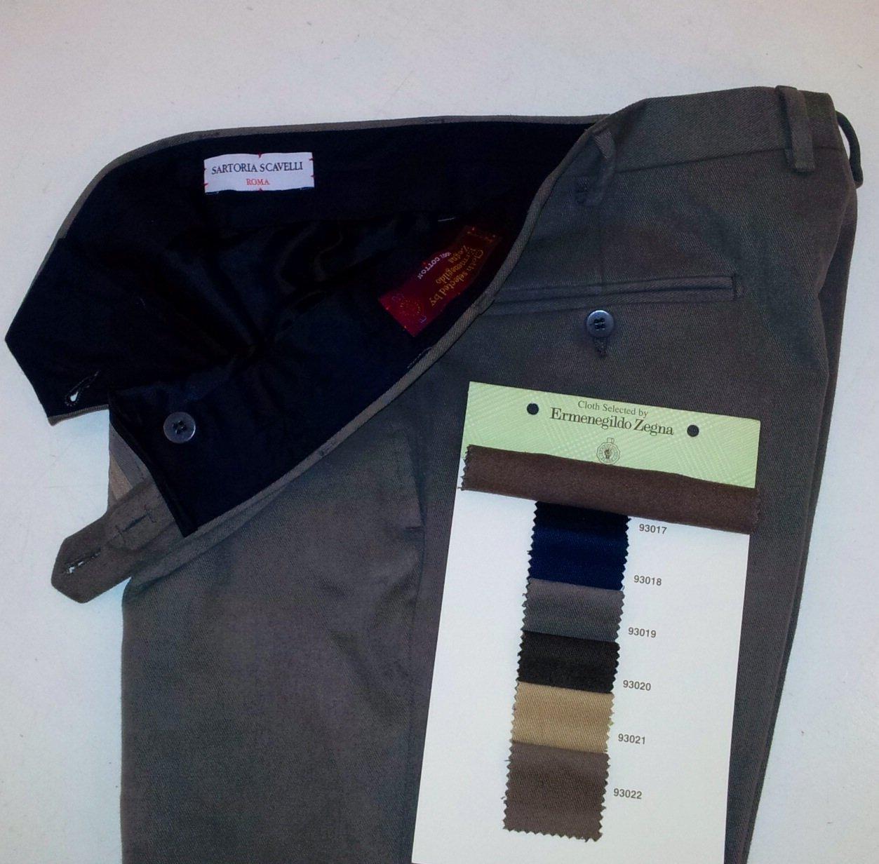 Pantaloni su misura ~ Sartoria Scavelli Roma