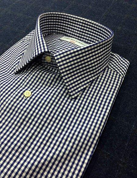 Camicia sartoriale a quadri blu