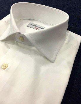 Camicia sartoriale bianca pop