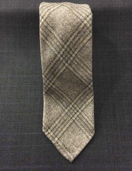 Cravatta cashmere galles grigio