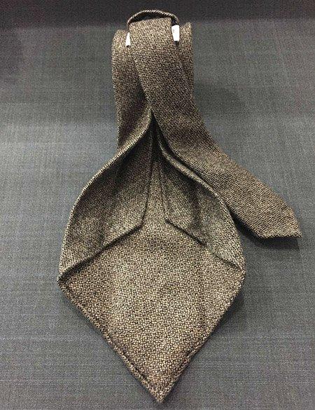 Cravatta cashmere marrone