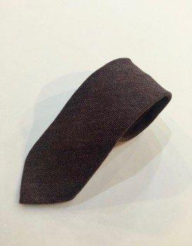 Cravatta cashmere mosto