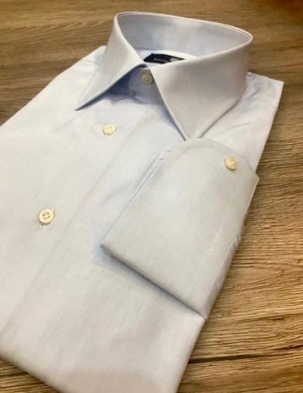 Camicia sartoriale celeste pop