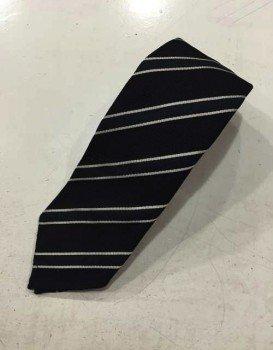 Cravatta in garza di seta regimental blu
