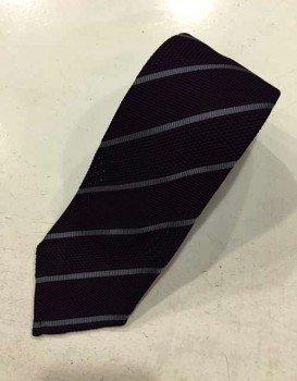 Cravatta in garza di seta regimental viola