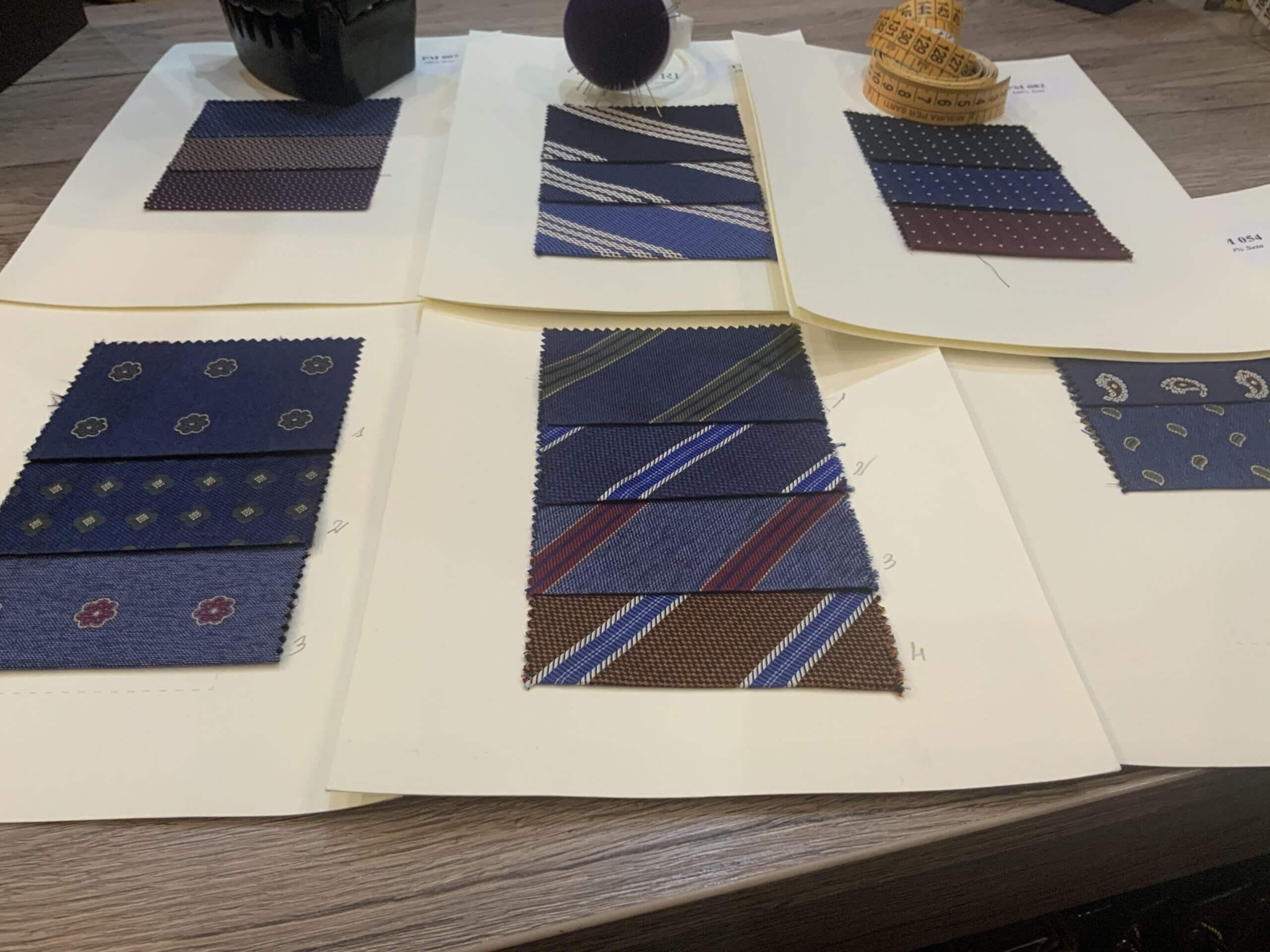 Servizio Cravatte su Misura.